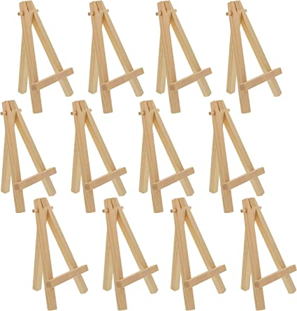 Photo Display Easel Art Supply Mini 5 inch Natural Wood Craft Pack of 24 U.S Business Card
