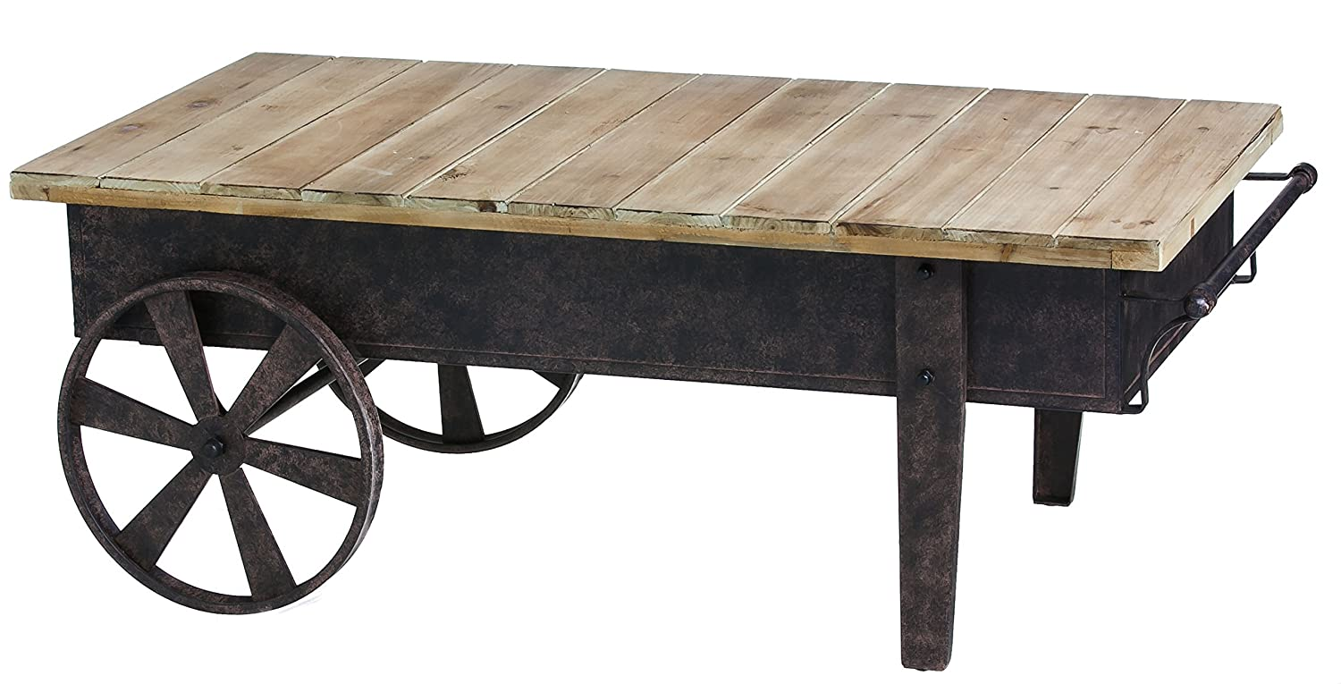 Amazon Cape Craftsmen Vintage Wood Plank Metal Cart Coffee