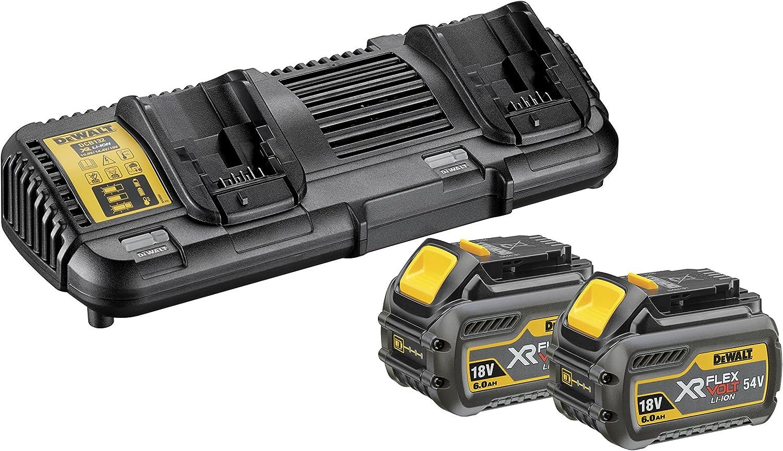 Doppel-Ladegerät für 10,8V bis 54V XR FlexVolt DeWALT Akku-Ladegerät DCB132-QW