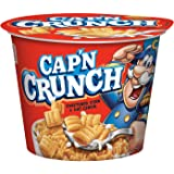 Cap'n Crunch Breakfast Cereal, Original, 1.51oz Individual Cups (12 Pack)
