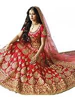 Rozdeal Women's Red Havy Taffeta Silk Lehenga Choli ( RDL129-SN73 )