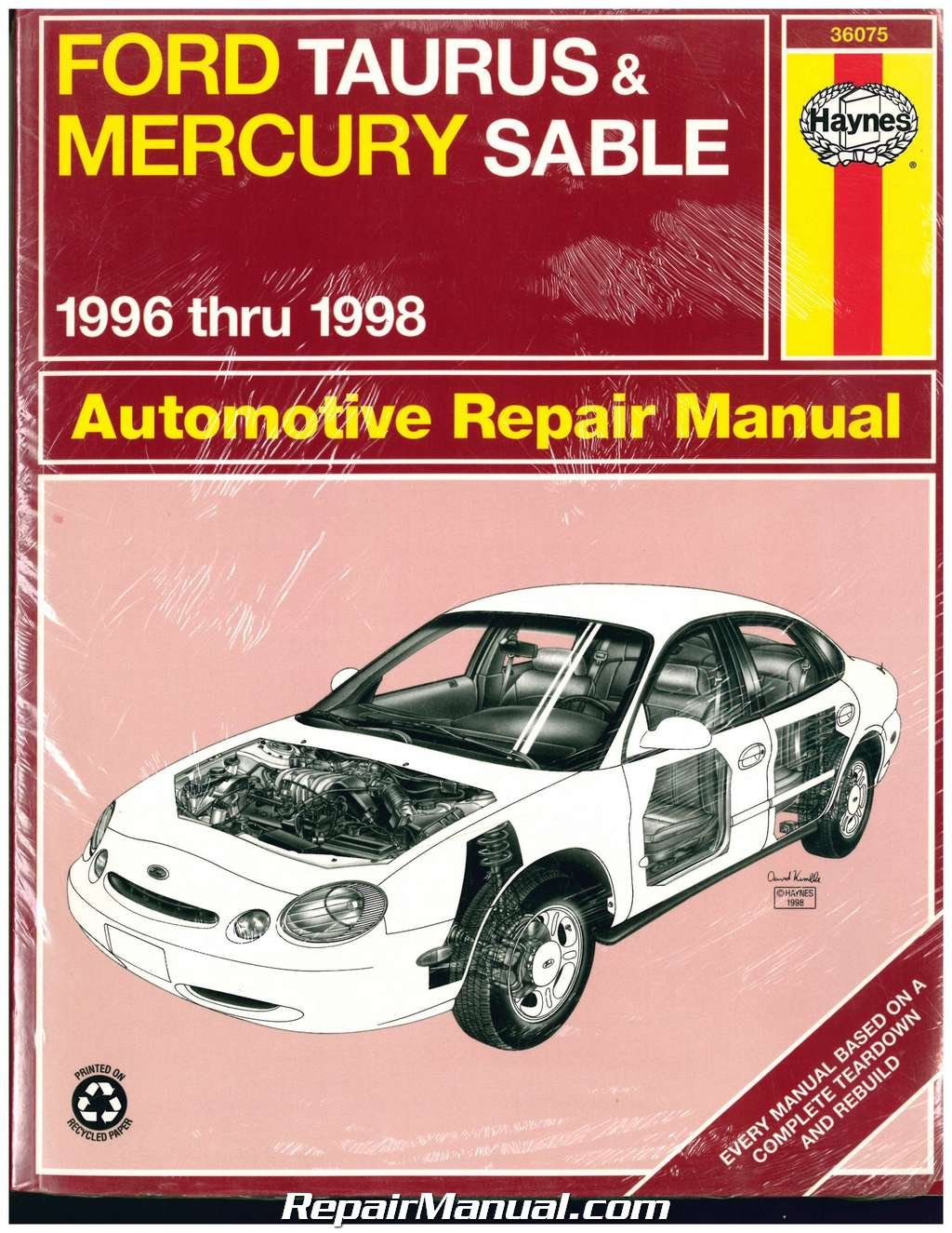 NOS-NOS-H36075 Haynes Ford Taurus Mercury Sable 1996 1997 1998 Ford Repair  Manual: Manufacturer: Amazon.com: Books