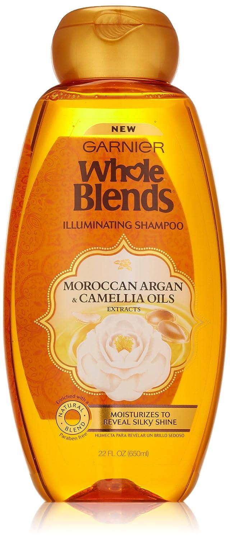 Garnier Whole Blends Shampoo with Moroccan Argan & Camellia Oils Extracts, 22 Fl Oz (Pack of 1), Moroccan Argan & Camelilia Oils