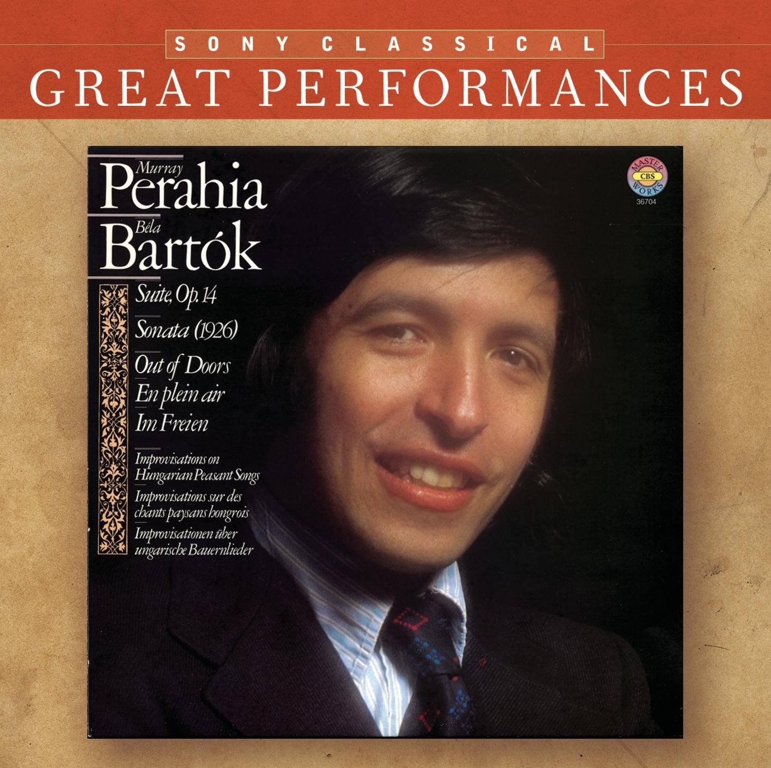 ... Evelyn Glennie David Corkhill - Murray Perahia Performs Béla Bartók (Piano Sonata; Improvisations on Hungarian Peasant Songs; Suite; Out of Doors; ...