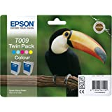 Epson Stylus Photo (Twin Pack) T009 colour ink cartridge C13T009402