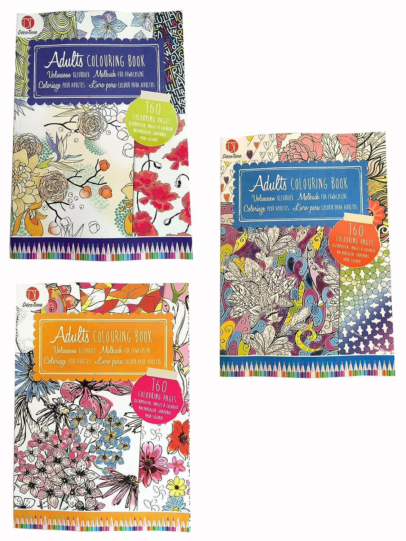 Adult Colouring Book Set Bundle