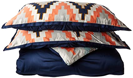 Blissliving Home 14173BEDDKNGNVY Harper Tanzania Harper 3Piece Duvet In  Navy King