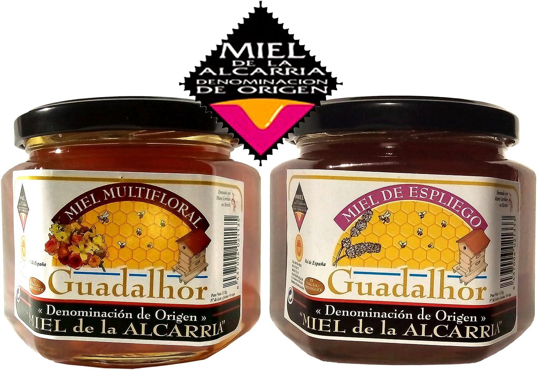 Miel natural de Espliego (lavanda) y Multifloral, Guadalhor 500gr+500gr, D.O. La Alcarria. Miel pura de abeja de gran calidad: Amazon.es: Alimentación y bebidas