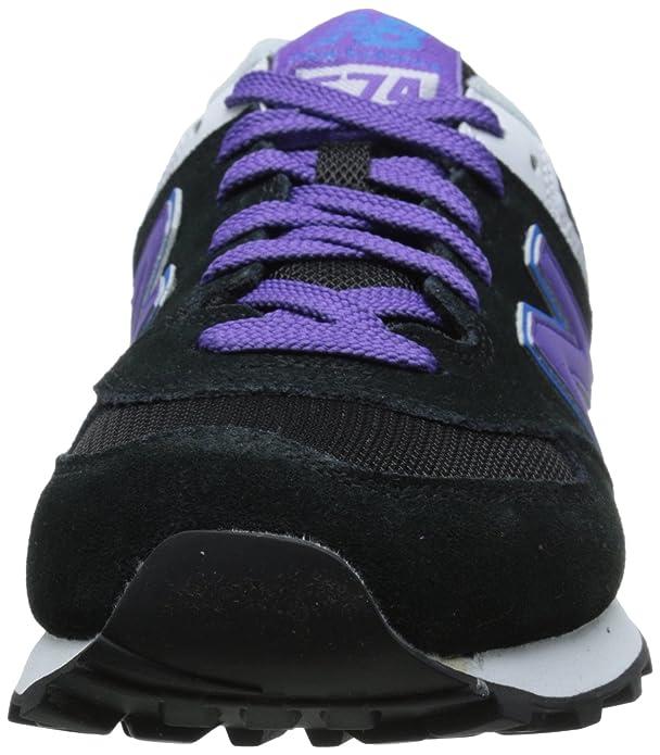 New Balance WL574 B Damen Sneakers Schwarz (MOX BLACK/PURPLE)