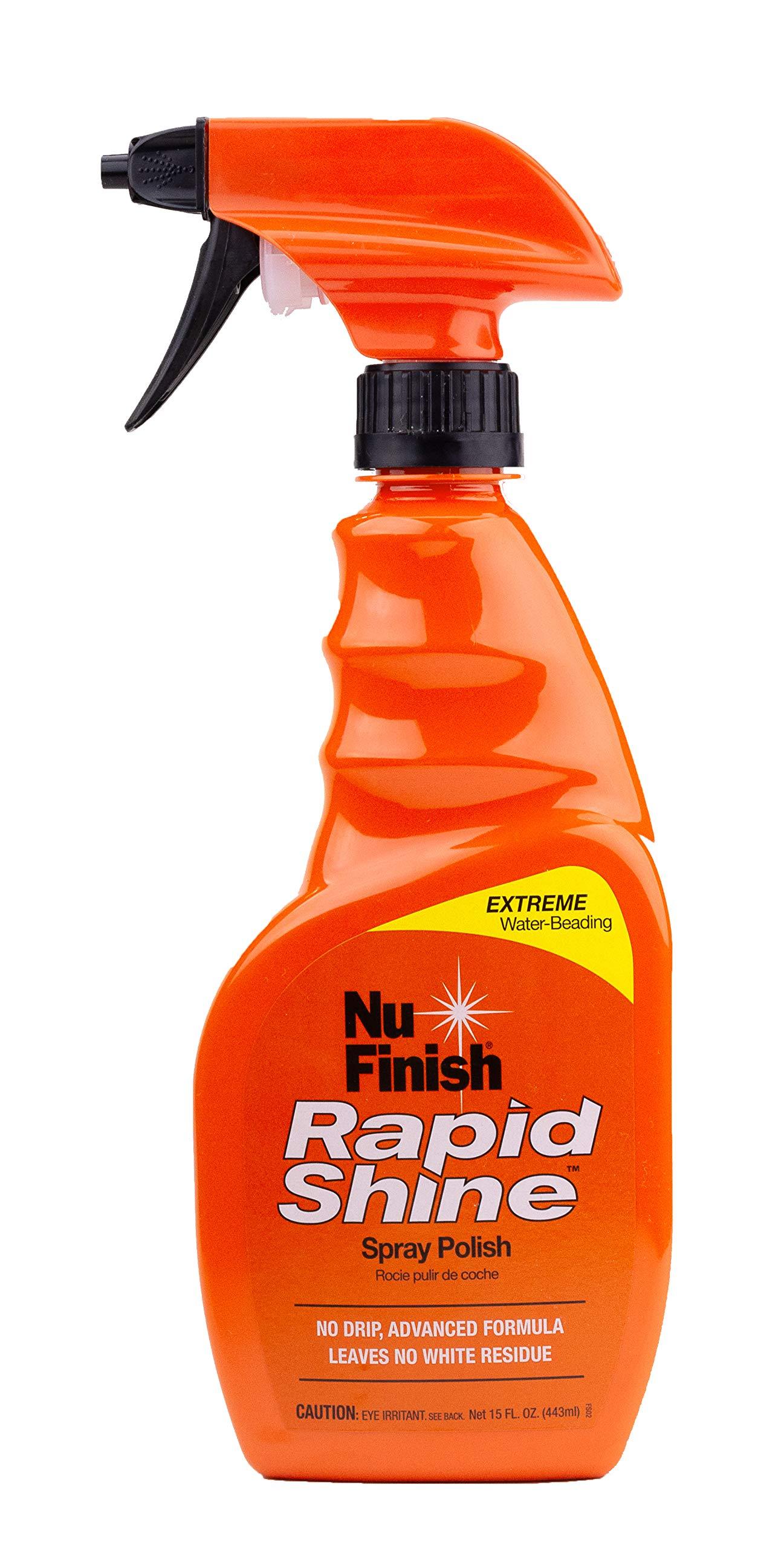 Nu Finish - E301656100 Rapid Shine Spray Polish with Extreme Water Beading, 15 oz.