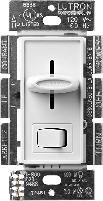 LUTRON Skylark Contour C.L Dimmer Switch for Dimmable LED