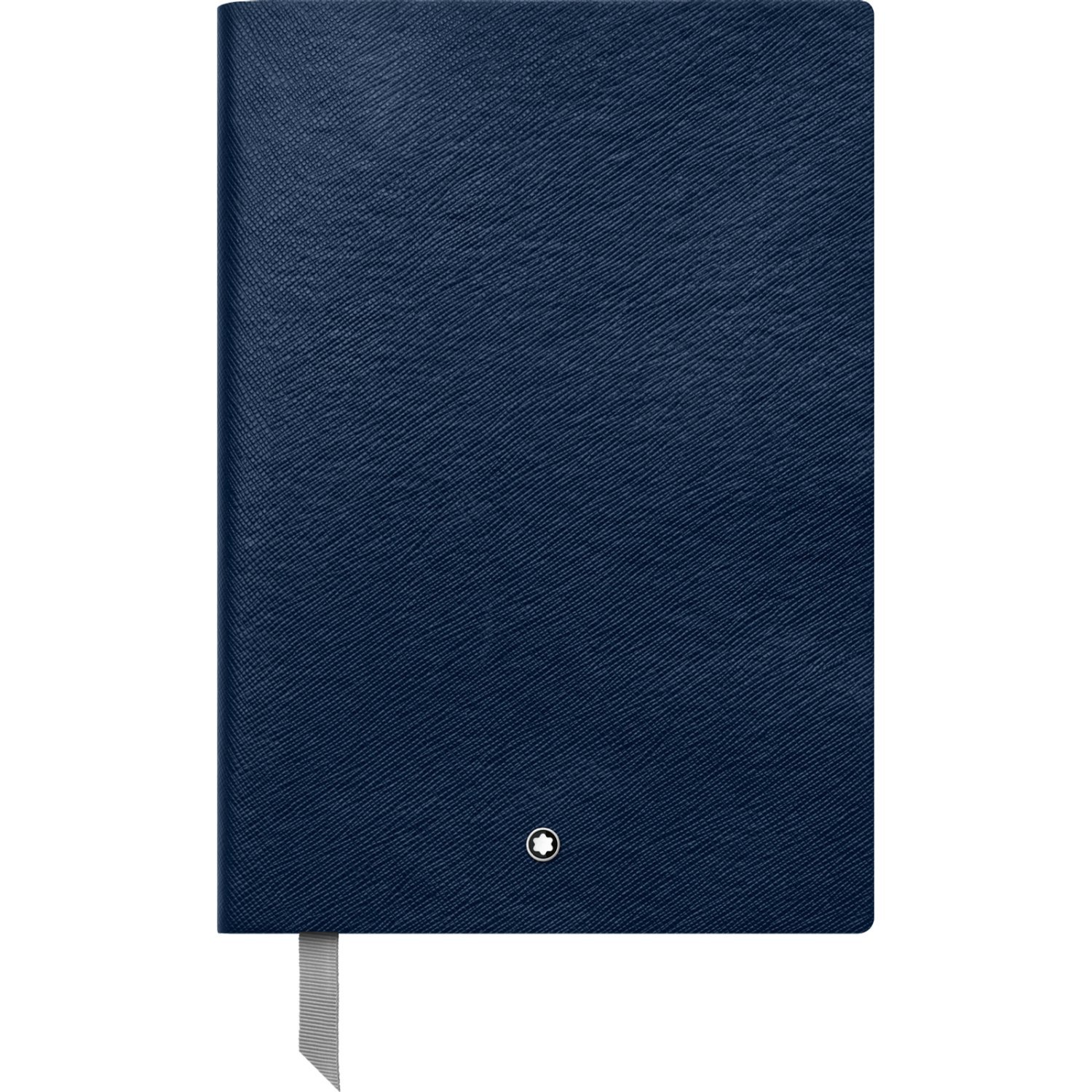Montblanc Notebook Indigo Lined #146 Fine Stationery 113593 - Elegant Journal with Leather Binding and Ruled Pages - 1 x (5.9 x 8.2 in.)
