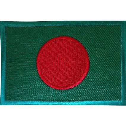 Bordado de hierro en parche para coser en insignia India de Bangladesh de bandera de Bangladesh