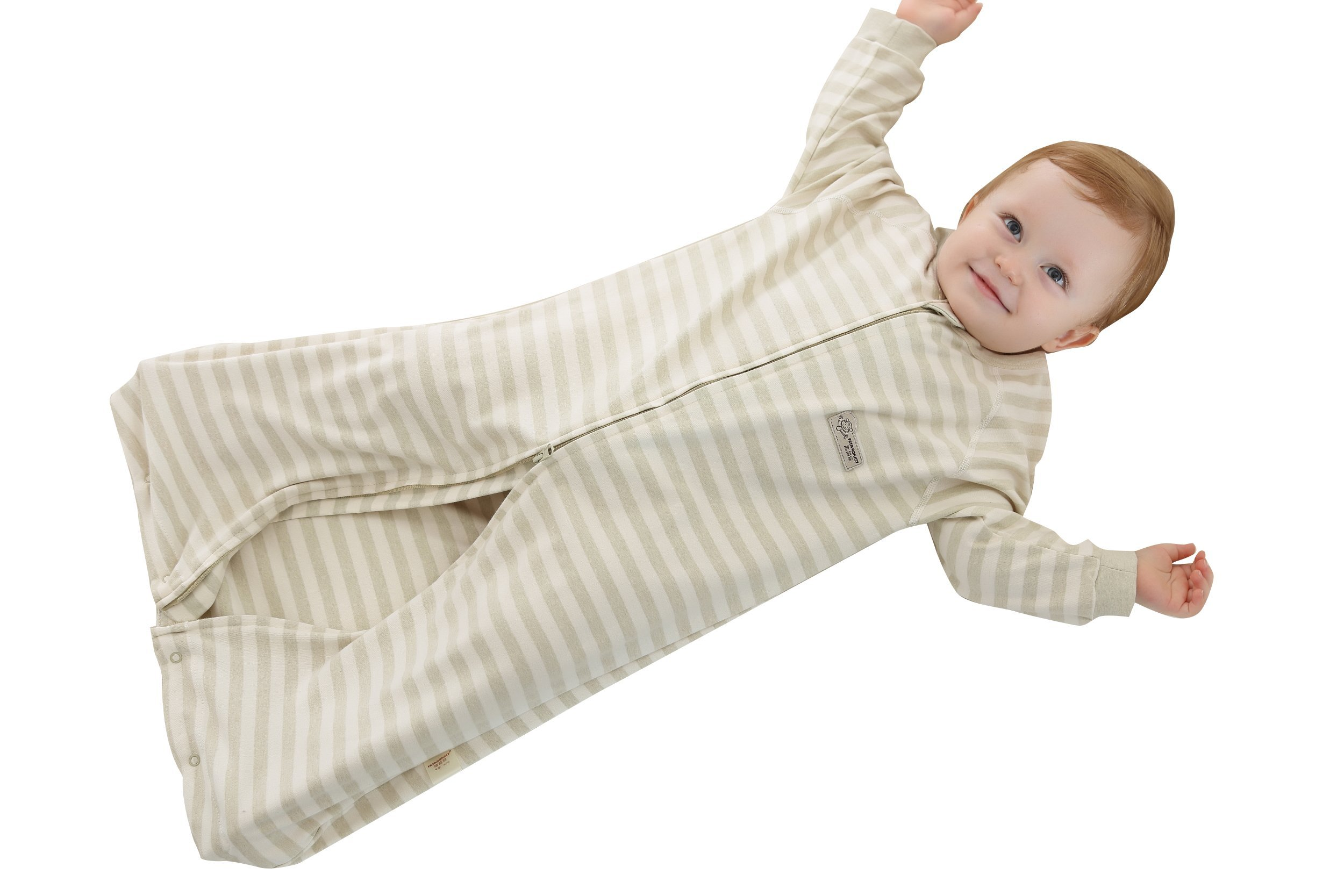 Luyusbaby Baby Sleeping Bag 100% Cotton Toddler Wearable Blanket  Green Stripes Medium by Luyusbaby