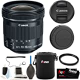 Canon EF-S 10-18mm f/4.5-5.6 IS STM Lens with 67mm UV Protector and Accessory Bundle