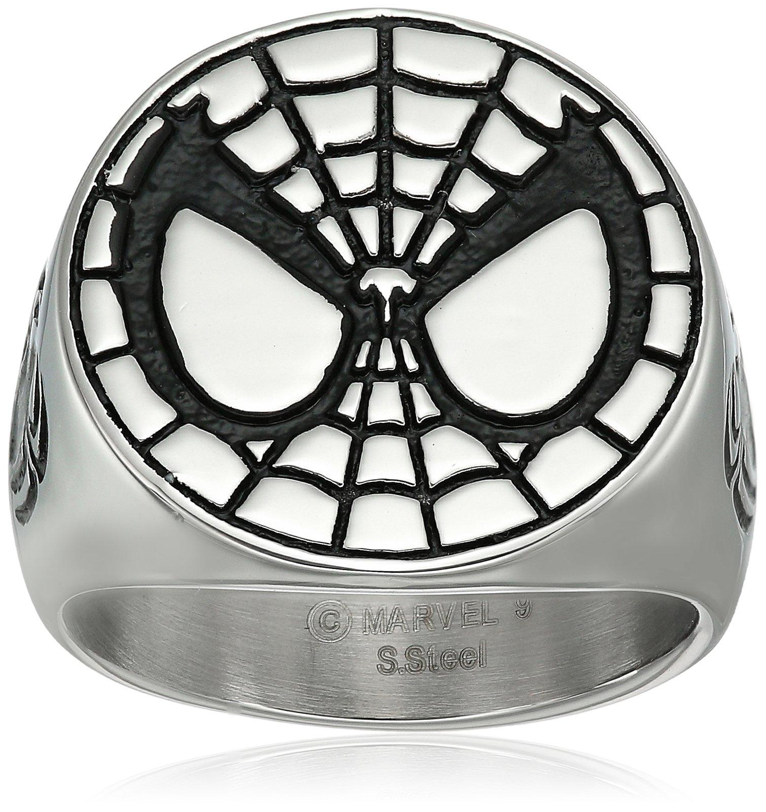 Marvel Comics Spider-Man Stainless Steel Men's Ring, Size 11