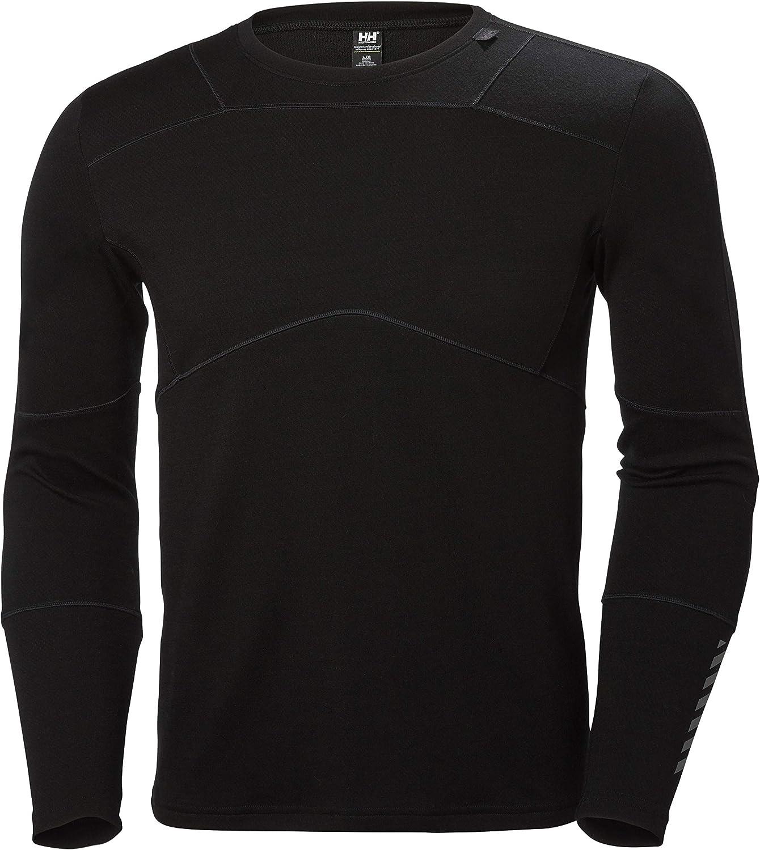 Helly Hansen HH LIFA Crew Camiseta Técnica Lana Merino, Hombre