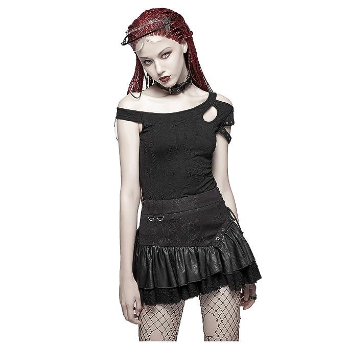 Amazon.com: Punk Rave - Camiseta de manga corta para mujer ...