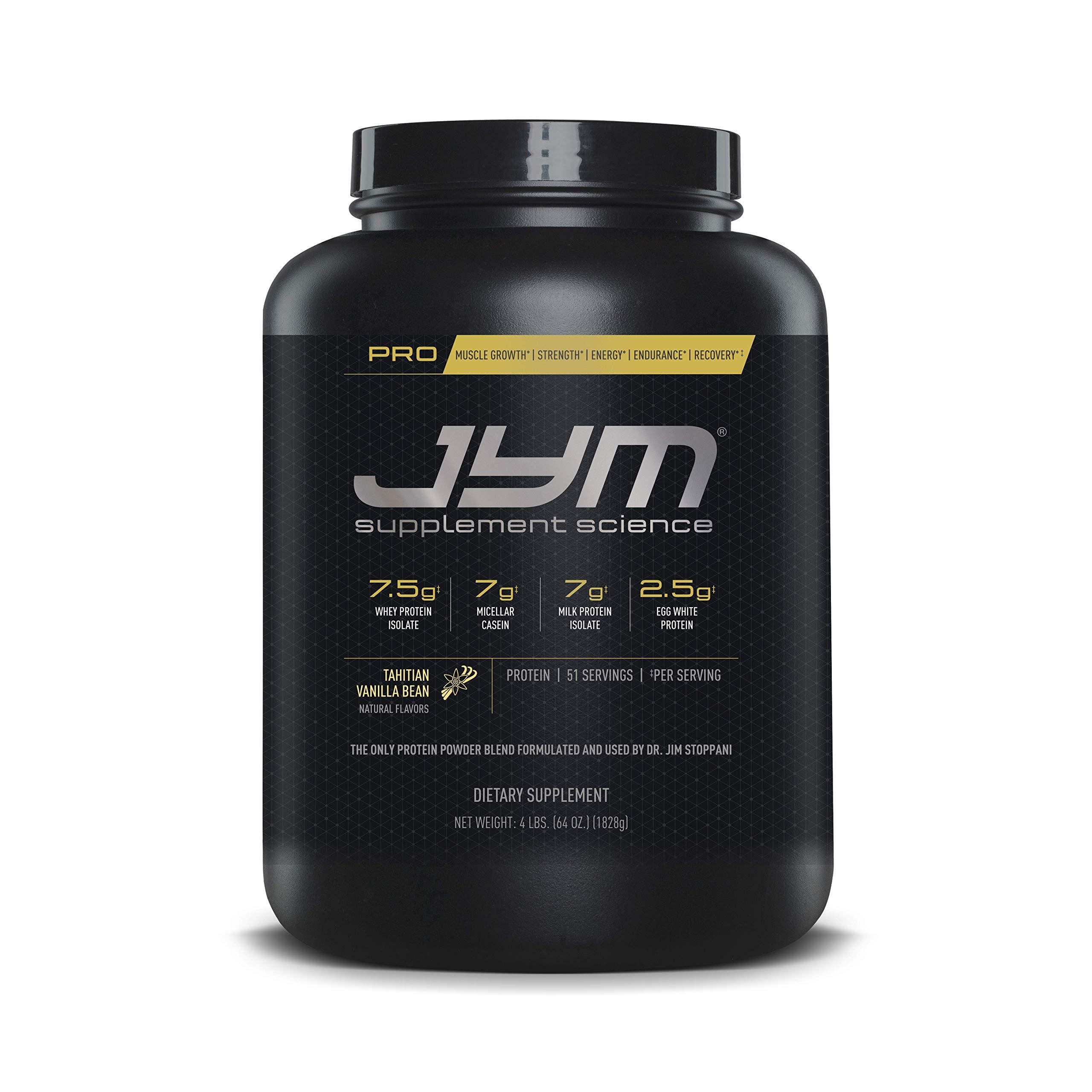 Pro Jym Protein Powder - Egg White, Milk, Whey protein isolates & Micellar Casein | JYM Supplement Science | Tahitian Vanilla Bean Flavor, 4 Lb by JYM Supplement Science
