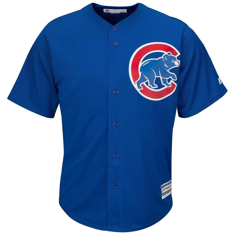 e8f76d6ff Amazon.com  Majestic Athletic Chicago Cubs Cool Base MLB Replica Jersey  Royal Blue Baseball Trikot Tee T-Shirt  Sports   Outdoors