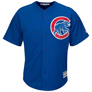 f1946416ae3fe Majestic Athletic Chicago Cubs Cool Base MLB Replica Jersey Royal Blue  Baseball Trikot Tee T-Shirt  Amazon.es  Ropa y accesorios