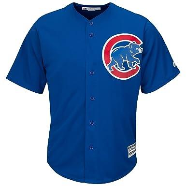 d53e80d96 Amazon.com  Majestic Athletic Chicago Cubs Cool Base MLB Replica Jersey  Royal Blue Baseball Trikot Tee T-Shirt  Clothing
