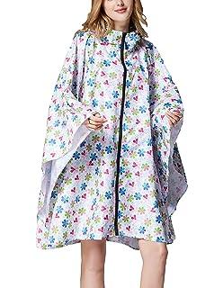 Summer Mae Wasserdicht Regen Poncho Jacke Mantel mit Kapuze