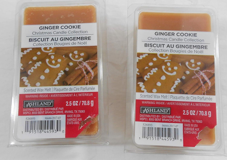 Ashland ジンジャークッキーの香り付きワックスメルト (2個パック)   B07GNTZRM7