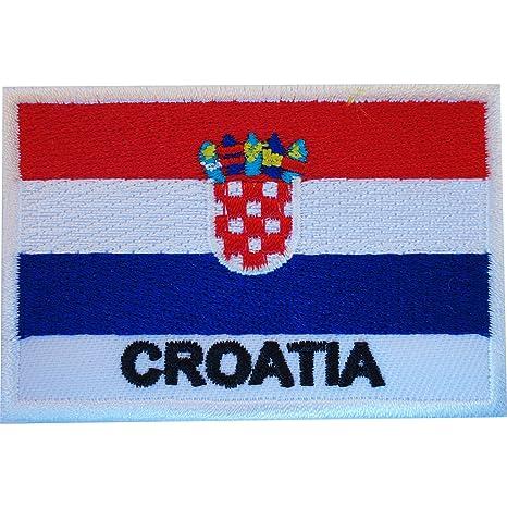 Parche bandera de Croacia croata hierro en coser en la ropa emblema bordado Applique