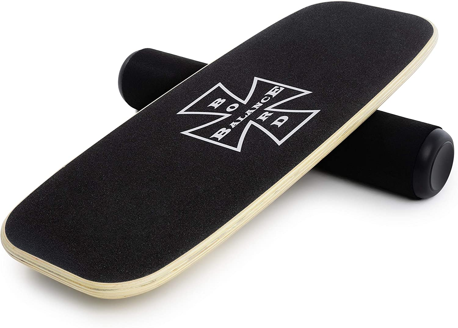 N&M Products Balance Board - Wooden Balance Trainer for Fitness, Surfing, Snowboarding, Skateboarding and Exercise