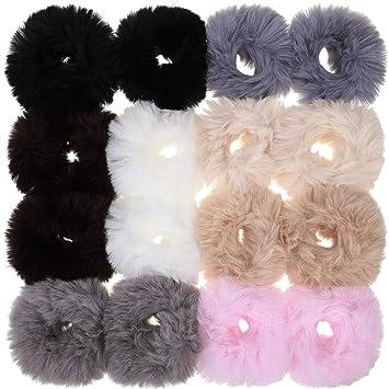 A Black Teddy Bear Fur Hair Scrunchie//Bobble