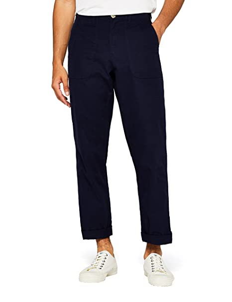Marca Amazon - find. Pantalón Cargo de Algodón Hombre