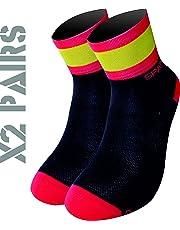 España TKS PACK 2 PARES CALCETINES SOFTAIR+(NEGROS), ciclismo, running, triatlon