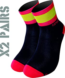 TKS España Pack 2 Pares Calcetines Softair+(Negros), Ciclismo, Running, Triatlon