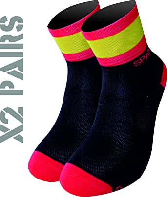 TKS España Pack 2 Pares Calcetines Softair+(Negros), Ciclismo, Running, Triatlon, Golf y Deportes en General. (M(40-42 EU)(6.5-8 UK), Negros): Amazon.es: Ropa y accesorios
