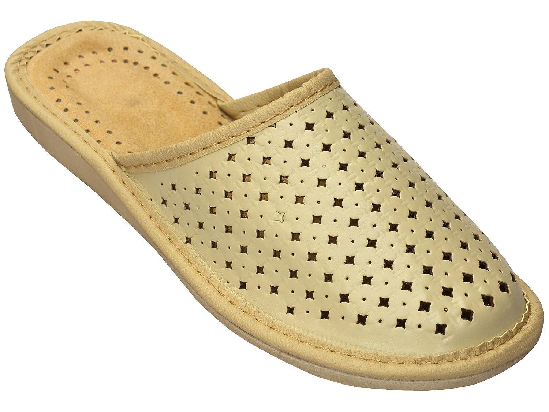 Bawal Chaussons pantoufles B01GB6ZT16 pour les femmes taille confort naturel confort cuir chaussons pantoufles marron taille 36-41 Beige 7a18061 - automatisms.space