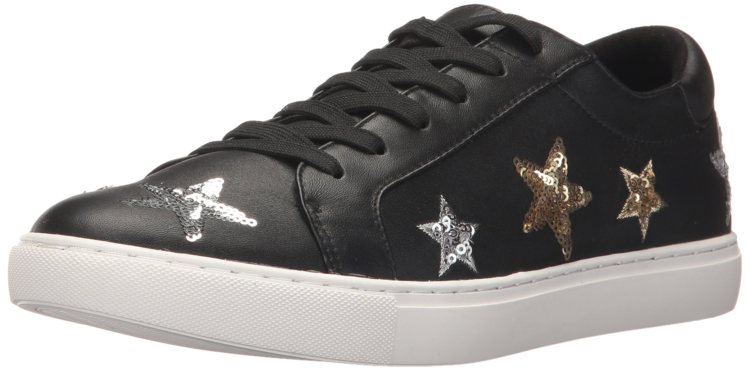 Kenneth Cole New York Women's Kam 11 Star Patches Fashion Sneaker, Black, 7 M US
