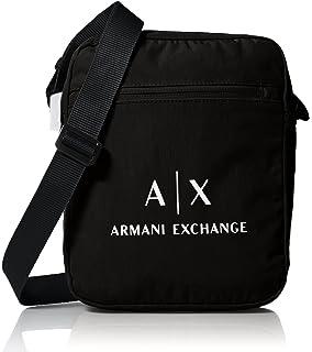 9da7c030c7 Amazon.com  Armani Exchange Men s All Over Micro Print Logo Satchel ...