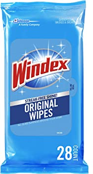 3-Pack Windex Glass & Surface Wipes Original, 28 ct