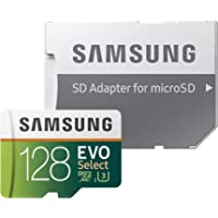 Samsung 128GB 100MB/s U3 MicroSD EVO Select Memory Card w/Adapter