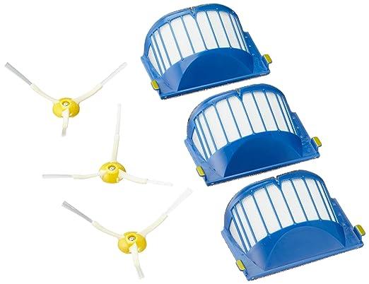 Sinland Super Pulizia per lavapavimenti Mop Panni di Ricambio in Microfibra Pad 13cmX45cm Blu scuro Confezione da 3