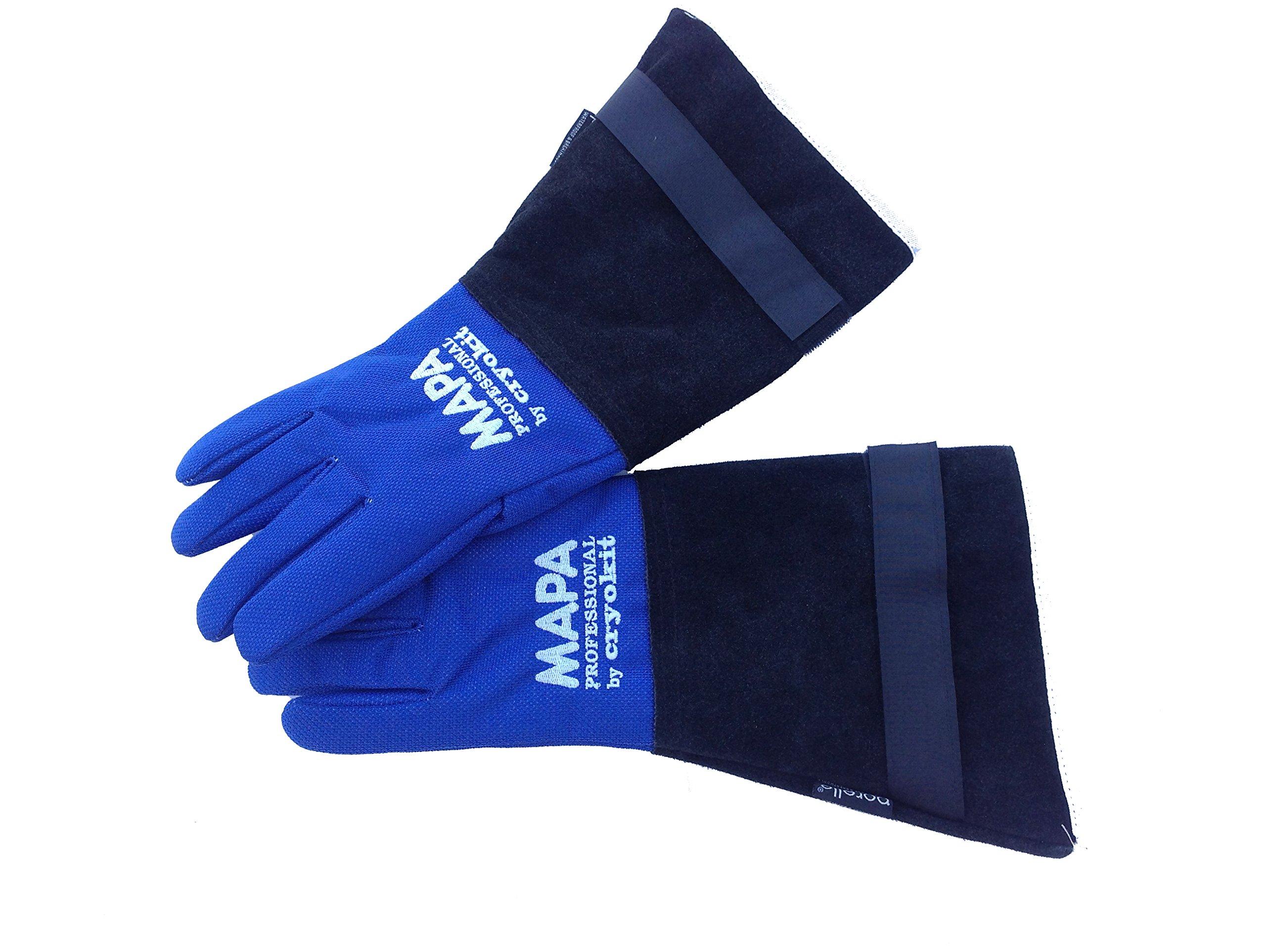 MAPA Professional CRYPLS203810 CRYOPLUS-2.0 Cryogenic Glove, (15''-LA), Size 10, PR 1, Blue
