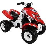 Smoby - 33048 - Quad électronique X Power Carbone - Vélo et Véhicule pour Enfant - Rouge