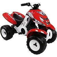 Smoby - 033048 - Quad Électronique X Power Carbone - Véhicule Electronique pour Enfant - 2 Roues Motrices - Autonomie Batterie 2 heures - 6V - Rouge