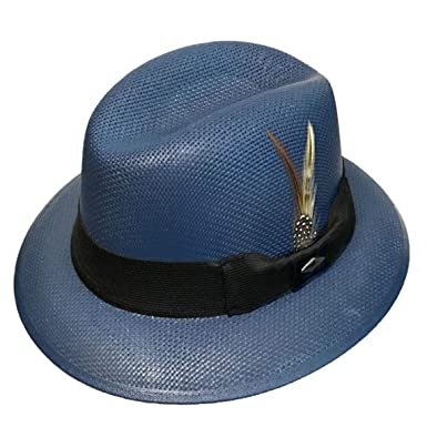 Navy Blue Pachuco Lowrider Fedora Style Brim Hat at Amazon Men s ... f40ceab6a3f