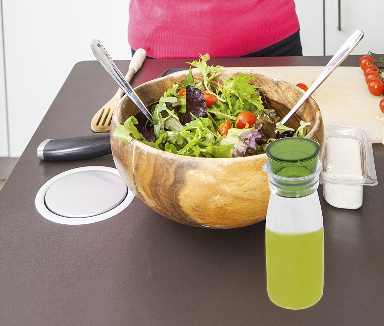 Ensalada Dressing Shaker Bottle - gran ensaladas y cocinar - Junta de goma Topper: Amazon.es: Hogar