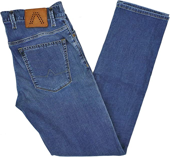 alberto herren jeans pipe regular slim fit t400 luxury denim