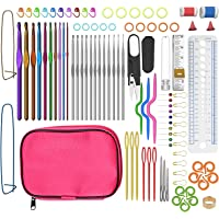 tospanic Crochet ganchos de aluminio Crochet ganchos 100 piezas de accesorios de herramientas para tejer buy