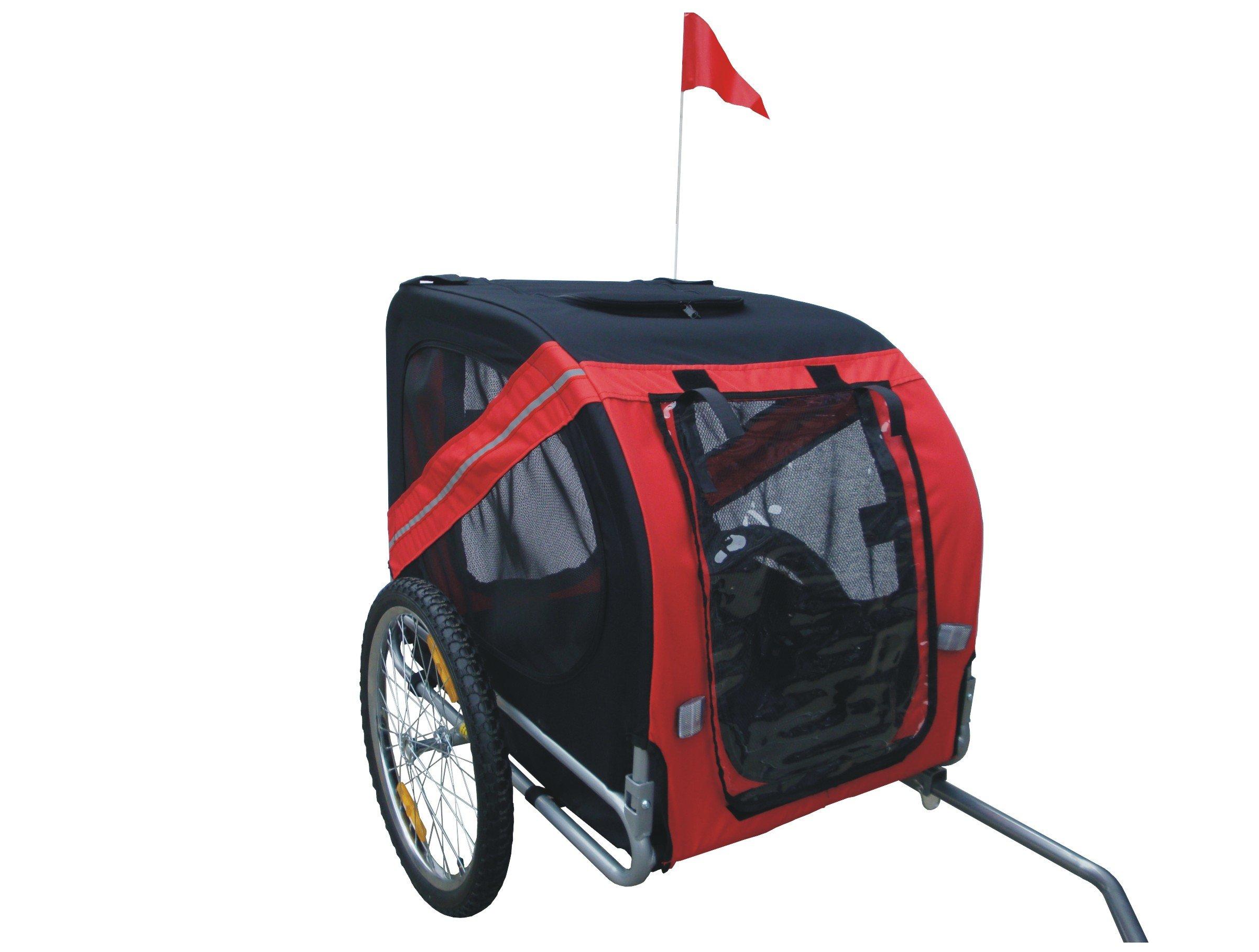 MDOG2 MK0062A Comfy Pet Bike Trailer, Red/Black
