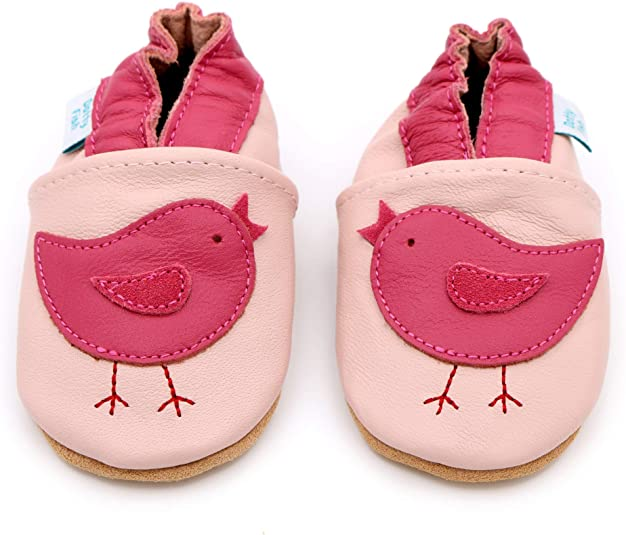 Soft Leather Baby Shoes Sloth 0-6 Months